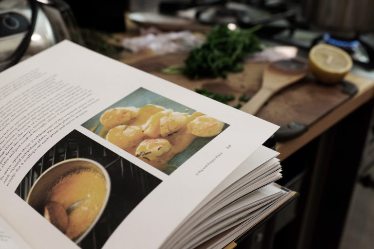 cookbook on a table