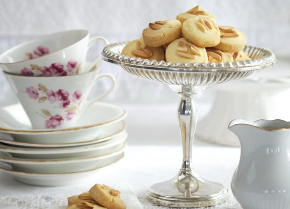 Cookies made of butter, flour and sugar.