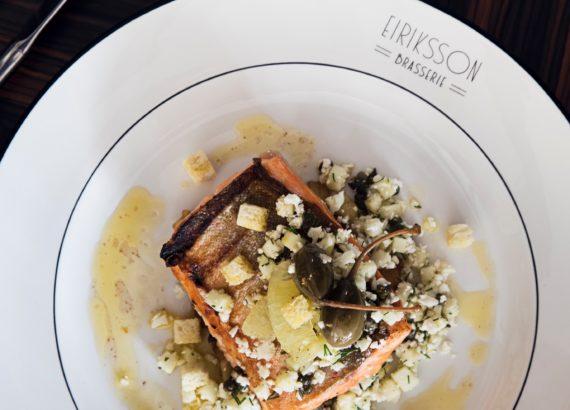 salmon from Eiriksson brasserie